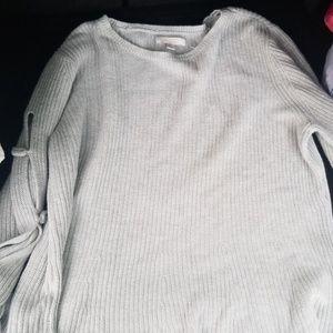 Womens light grey sweater